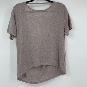 Alternative t shirt hi low hem draped back small